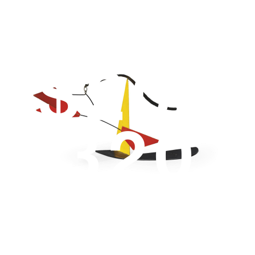 Alexander Calder, Untitled (standing Mobile: Black, Yellow And Red)