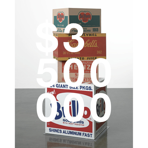Andy Warhol, Set Of Four Boxes: Brillo Soap Pads; Campbell's Tomato Juice; Del Monte Peach Halves; Heinz Tomato Ketchup