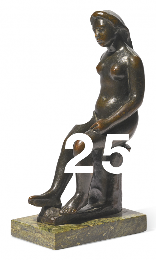 After Aristide Maillol, Femme Assise Aux Cheveux Longs