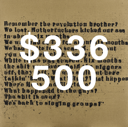 Glenn Ligon, Gold Remember The Revolution #2