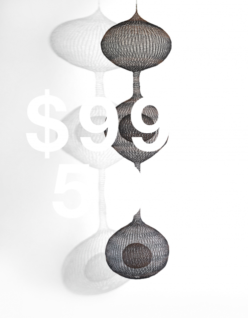 Ruth Asawa, Untitled (s.449, Hanging Three Lobed Form With Stripes And Two Interior Spheres)