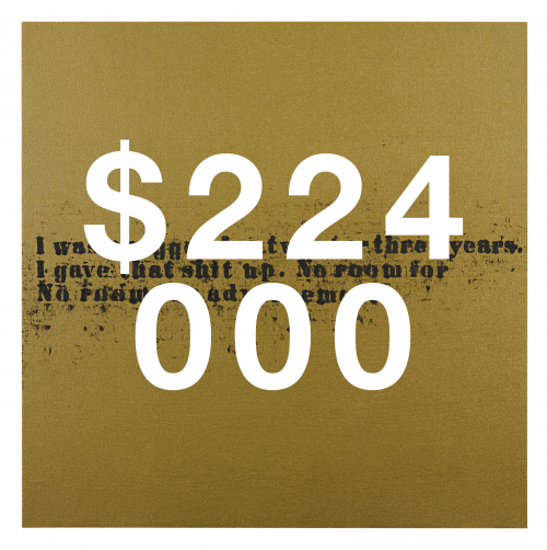 Glenn Ligon, No Room (gold) #31
