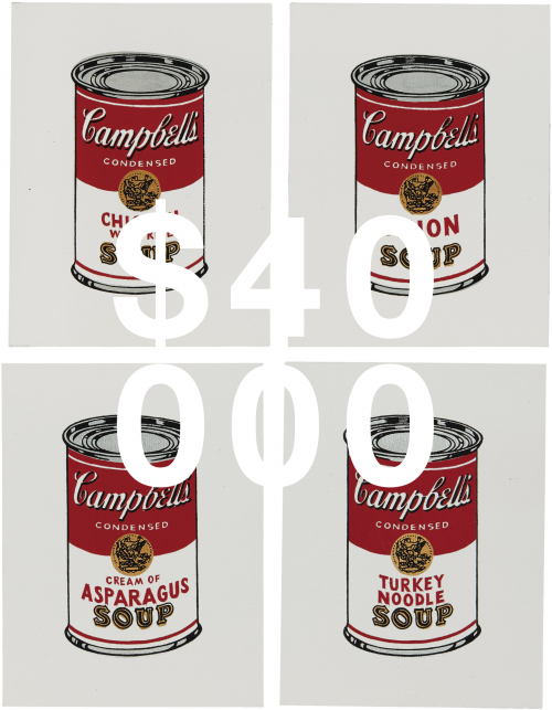 Richard Pettibone, Campbell's Soup (set Of Four)