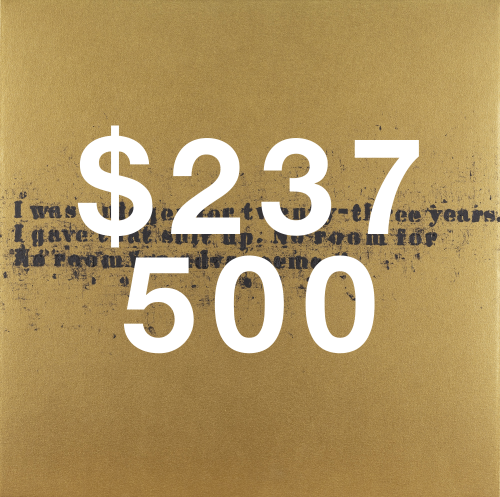 Glenn Ligon, No Room (gold) #50