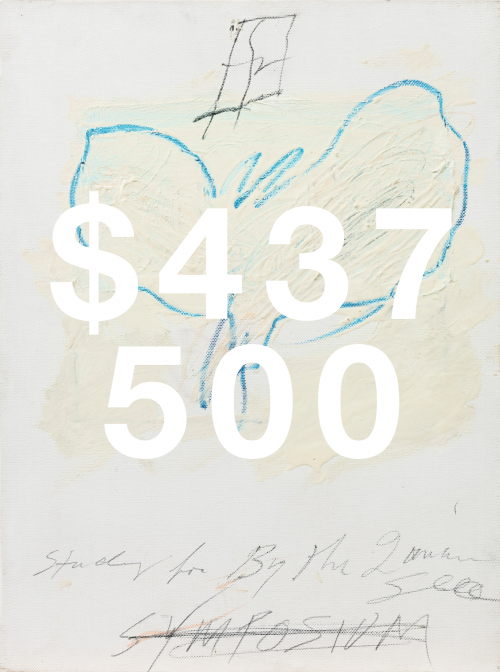 Cy Twombly, Study For By The Ionian Sea