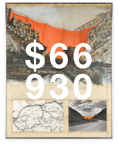 Christo, Valley Curtain (project For Colorado) Rifle, Grand Hogback
